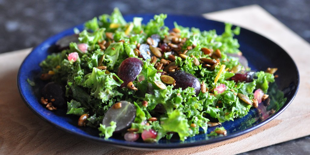 Kale Salad with an Orange-Tahini Dressing