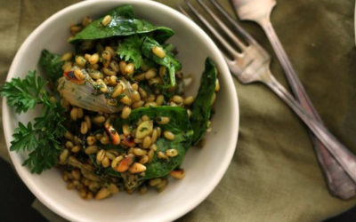 Green Freekhe Salad – Guest Post by Sprouting an Old Soul
