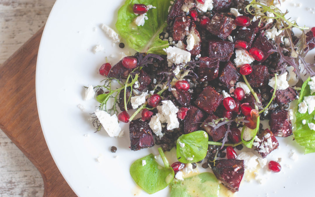 Cumin Roasted Beetroot & Puy lentil Salad