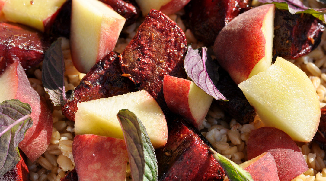 Cumin Roasted Beetroot & Nectarine Salad – Summer Salad Series 3