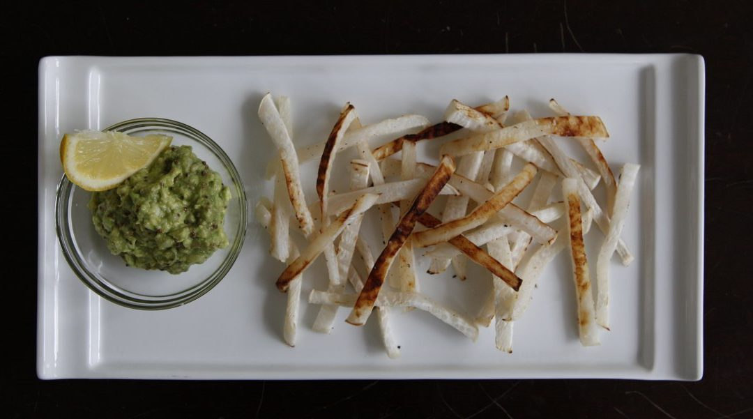 Turnip Oven Fries with Avocado Dip – Guest Post by The Naked Fig