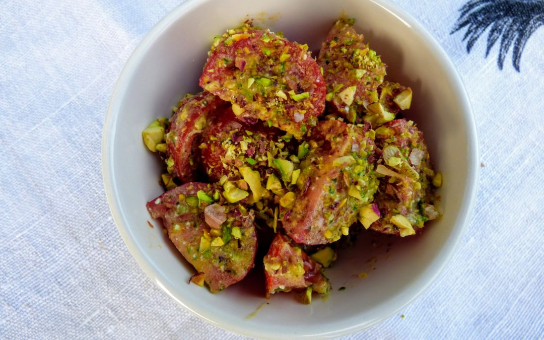 Tomato Salad with Parsley, Feta & Pistachio – Guest Post by Joanna Bourke